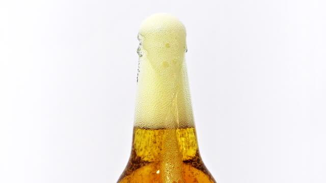 Freshly opened beer. video