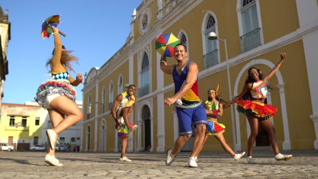 Frevo professional dancers in Recife
