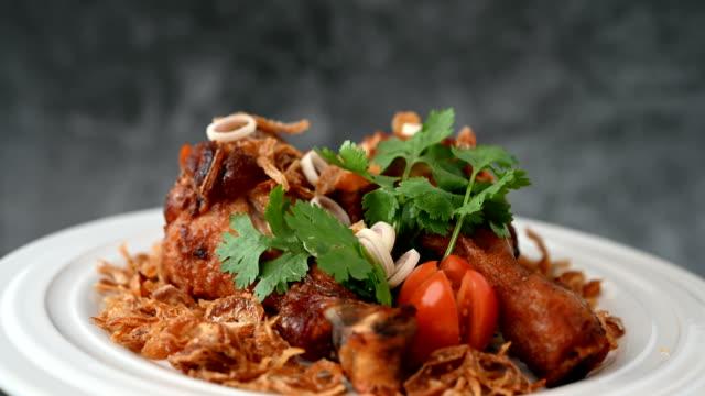 Fried Chicken with Garlic Fried chicken Healthy food