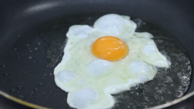 Fried egg with oil. Full HD