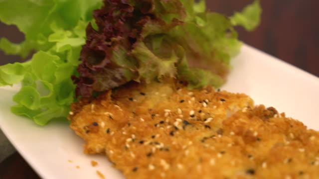 fried fish steak fried fish steak fillet stock videos & royalty-free footage