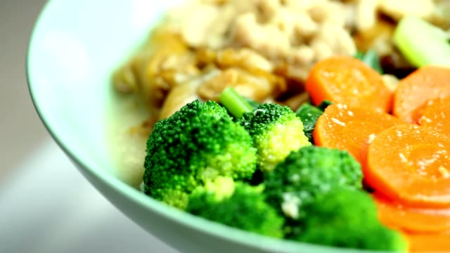 Fried noodle with chicken and broccoli thai food cooked stock videos & royalty-free footage