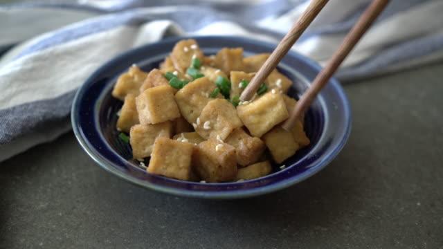 fried tofu video