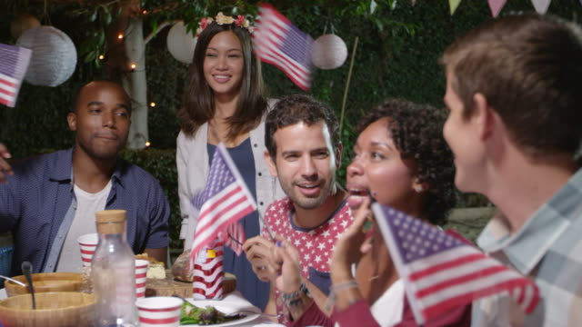 Friends Celebrate 4th Of July With Party Shot On R3D video