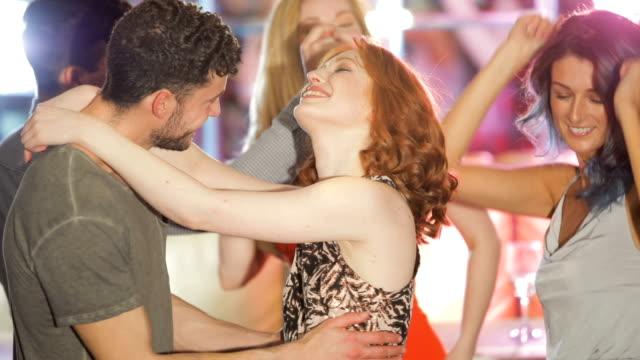 Friends Dancing In Nightclub video