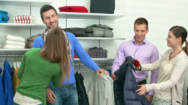 HD DOLLY: Friends Enjoying Shopping In A Boutique video