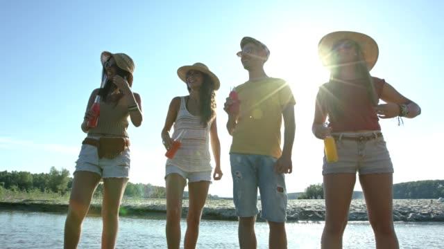 Friends enjoying summer video