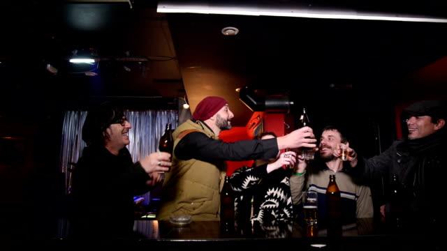 Friends in a bar video