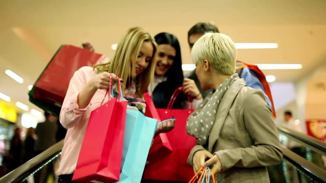 Friends in shopping video