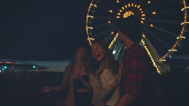Friends on festival video