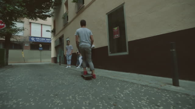 Friends out in the city streets video