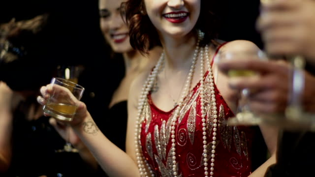 Friends With Drinks At Bar Counter. Happy woman with drinks standing at bar counter. party social event stock videos & royalty-free footage