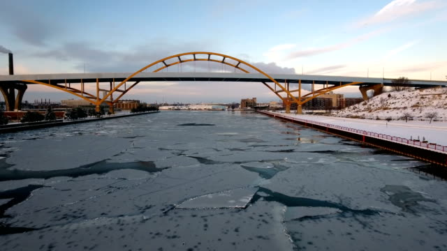 Frigid morning on the Milwaukee River video