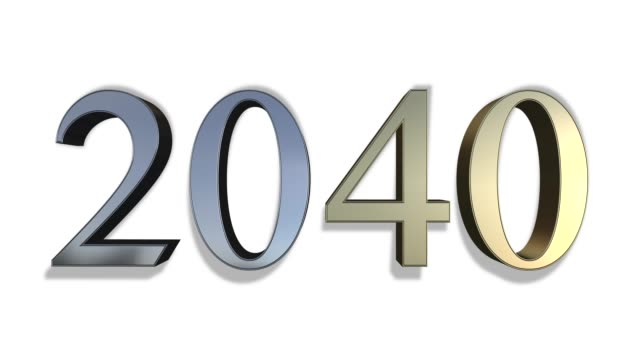 from 2000 to 2040 - gold and silver numbers - 2010 2019 стоковые видео и кадры b-roll