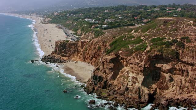 AERIAL From Point Dume to the Zuma Beach in Malibu, California
