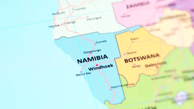AFRICA NAMIBIA from World Map tracking to NAMIBIA from World Map namibia stock videos & royalty-free footage