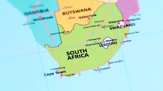 South Africa On A Map.South Africa From World Map Stock Video Download Video
