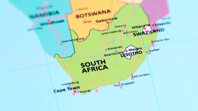 sydafrika från världskartan - south africa bildbanksvideor och videomaterial från bakom kulisserna