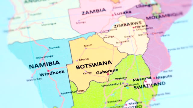 AFRICA BOTSWANA from World Map tracking to BOTSWANA from World Map botswana stock videos & royalty-free footage