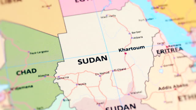 Africa Sudan From World Map Stock Video More Clips Of 4k