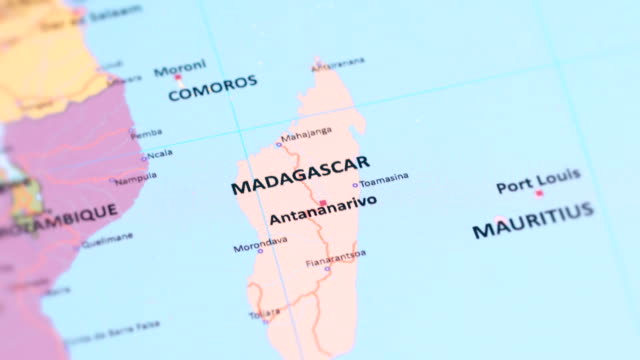 Africa Madagascar From World Map Stock Video - Download ...