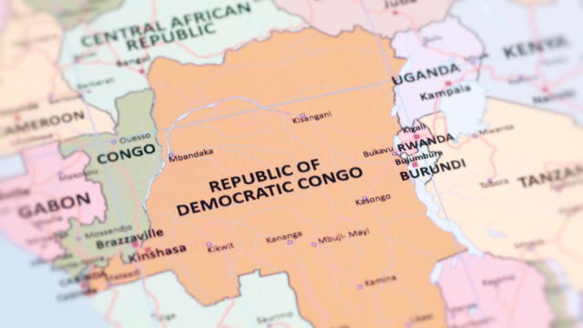 AFRICA REPUBLIC OF DEMOCRACTIC CONGO from World Map video