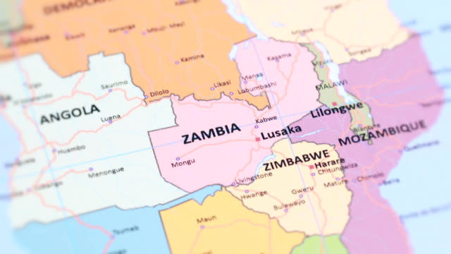 AFRICA ZAMBIA from World Map video