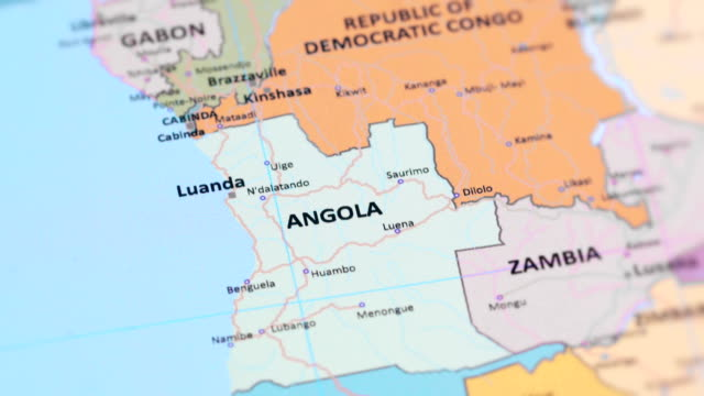 AFRICA ANGOLA from World Map video