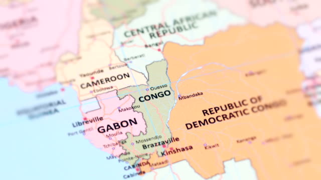 Africa Republic Of Congo From World Map Stock Video More Clips Of