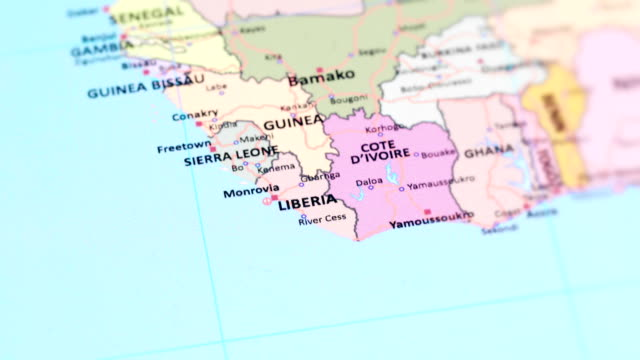 Africa Liberia From World Map Stock Video More Clips Of 4k