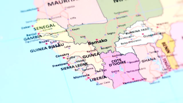 africa guinea from world map - sierra leone video stock e b–roll