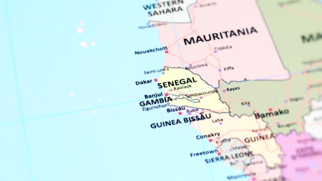 AFRICA GAMBIA from World Map tracking to AFRICA GAMBIA from World Map ziguinchor stock videos & royalty-free footage