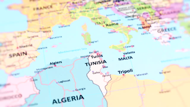 AFRICA TUNISIA from World Map