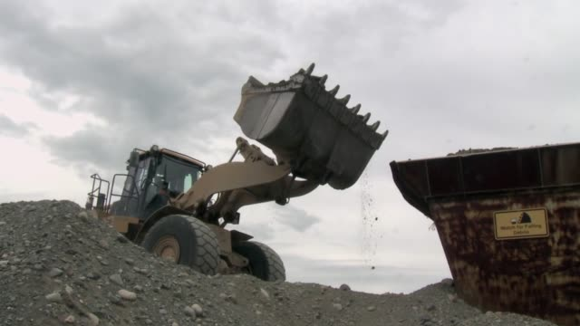 Front End Loader Front End Loader pouring dirt construction machinery stock videos & royalty-free footage