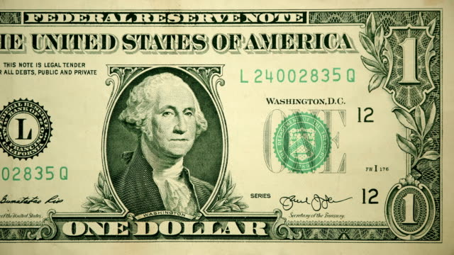 Front of $1 Dollar Bill Currency of the United States of America