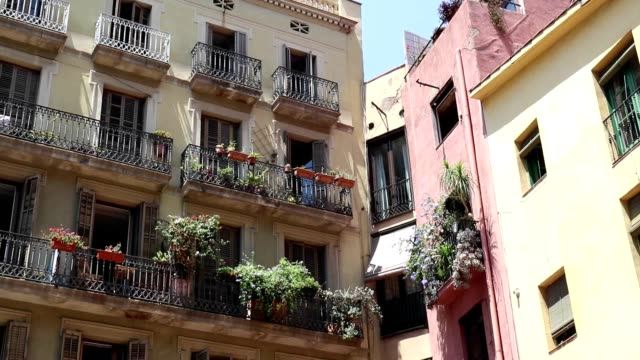 Front of European buildings. Traditional european facade buildings Front of European buildings. Traditional european facade buildings french architecture stock videos & royalty-free footage