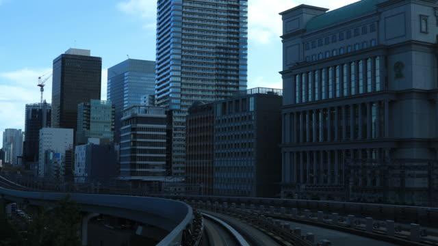 Ein vorderer Standpunkt zur Bahn in Tokio – Video