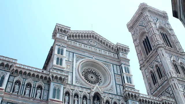 Front side of the duomo in Florence video