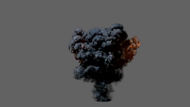 vídeos de stock e filmes b-roll de vista frontal de explosão - bomba