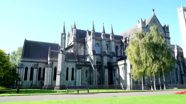Front view of the St. Patricks Cathedral in Dublin video
