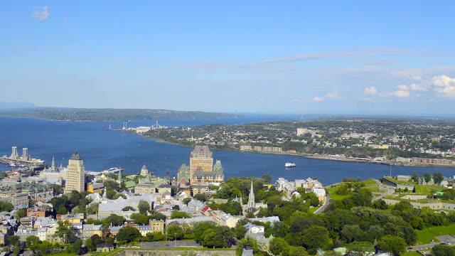 Frontenac castle Frontenac castle in Quebec fort stock videos & royalty-free footage