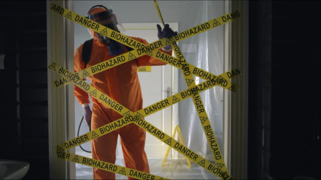 Frontline Worker Rips Biohazard Cordon Tape and Enters Coronavirus Contaminated Room