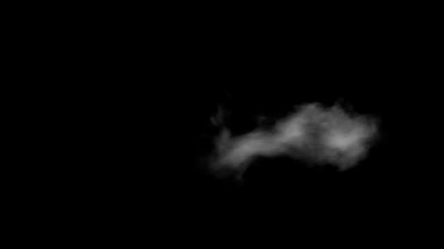 frosty atmen isoliert auf schwarzem hintergrund-seitenansicht - atemübung stock-videos und b-roll-filmmaterial
