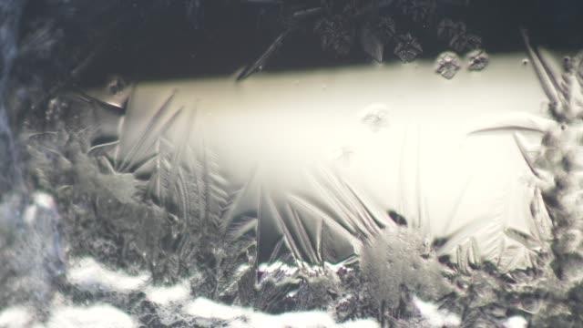 窓の冷ややかなパターン。4 - 霜点の映像素材/bロール