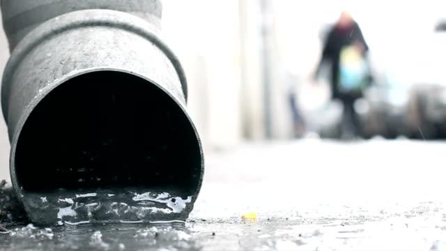Frozen gutter, Winter, Snow, City video