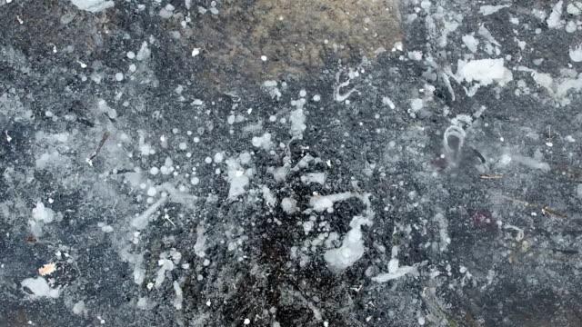 Frozen ice surface video