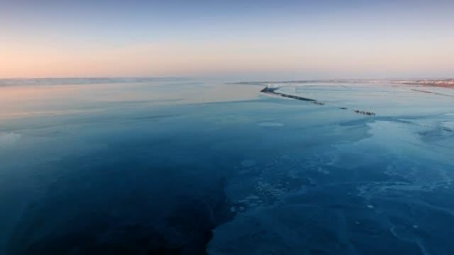 Frozen Kualnik Estuary Odessa Ukraine video