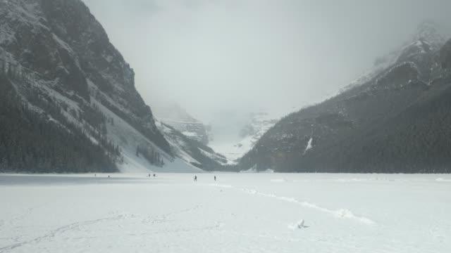 Frozen Lake Louise at Banff National Park