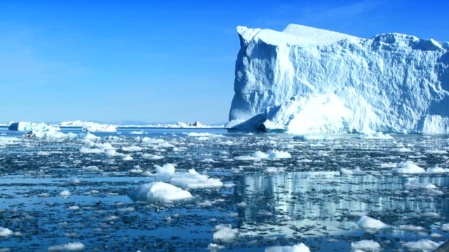 Frozen Landscape of  the Arctic Frozen landmass in the arctic affected by climate change icecap stock videos & royalty-free footage