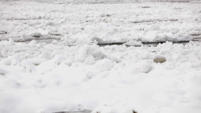 Frozen river video